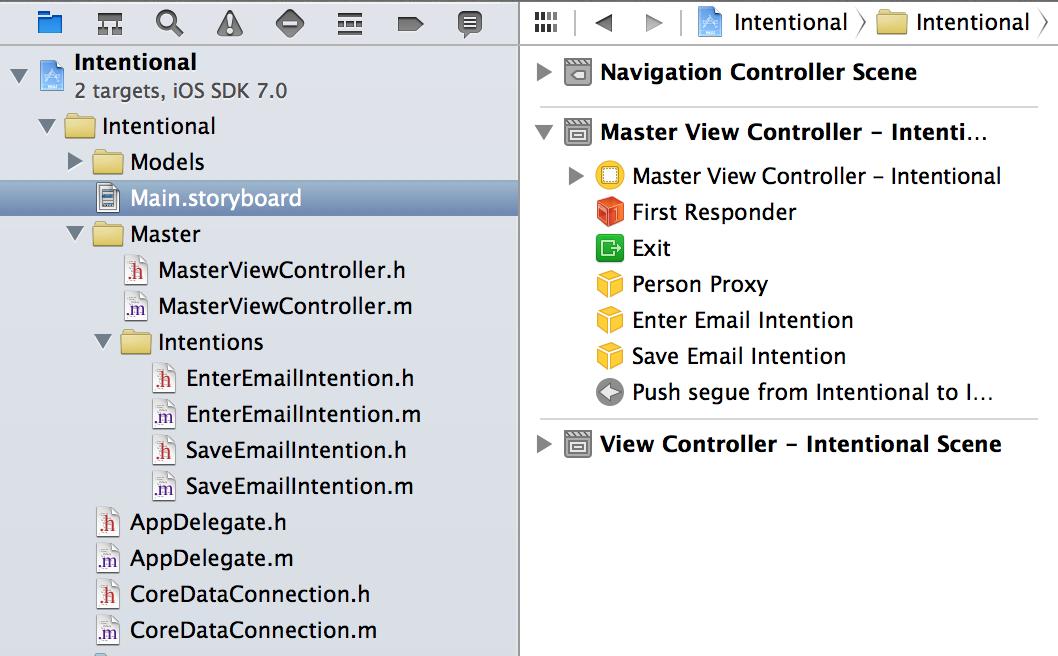 Intentions Screenshot